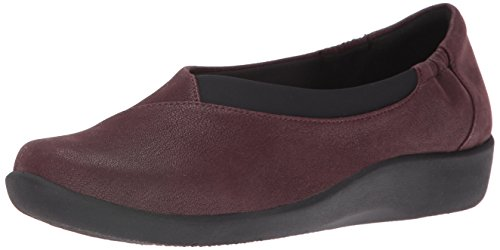 soporte Heathered Sillian Fabric mujer Jetay Clarks de cloudsteppers Burgundy RF0IgRqwx