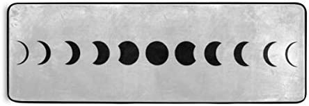 Rug Moon Phases Astronomy Icon Set Vector Runner Rug Doormat Area Rug Home Decor Modern Rugs For Floor Kitchen Front Door Lobby Bed And Living R Kitchen Dining