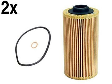 (BMW (93-03 8cyl) engine Oil Filter Kit (x2) MANN)