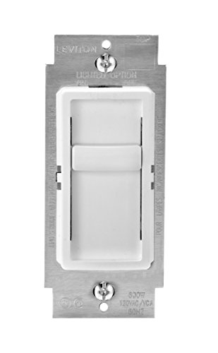 (Leviton 6672-1LW SureSlide Universal 150W LED/CFL Incandescent Slide-To-Off Dimmer, 3 Pack, White)