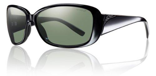 Smith Shorewood Sunglasses - Women's - Polarized ChromaPop Black/Gray Green, One - Sunglasses Smith Shoreline
