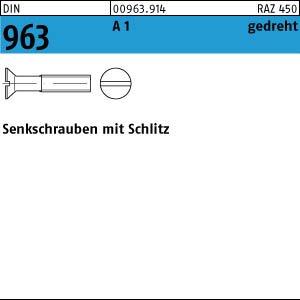 100 Schlitz Senkschrauben DIN 963 1.4305 M1,4x4 Edelstahl