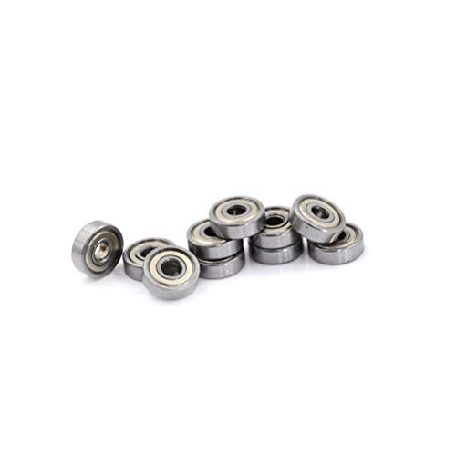 Ball Bearing 2mm - 10pcs Lot Metal Shielded Metric Radial Ball Bearing Model 625zz Deep Groove Bearings Miniature - Ball Plastic 688zz 6803 623zz 8x14x4 Pulley 12mm Delrin 6805 6201 Bear ()