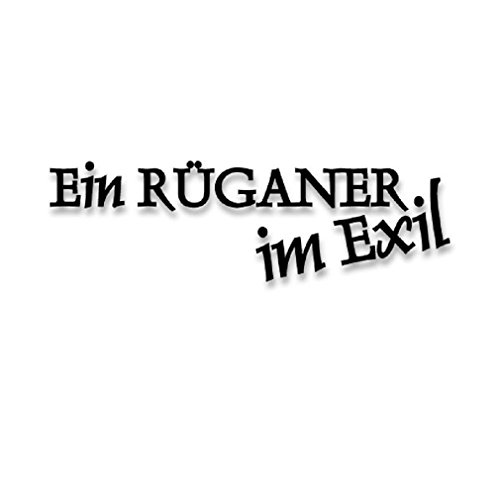 An RÜGANER exiled in Rügen Island residents Baltic born origin Military badge emblem for Audi A3 BMW VW Golf GTI Mercedes (10x3cm) - Sticker Wall Decoration (Ruegen Island)