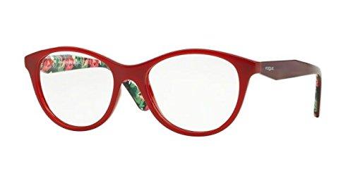 Vogue VO2988F Eyeglass Frames 2340-53 - - Red Vogue Frames Eyeglass