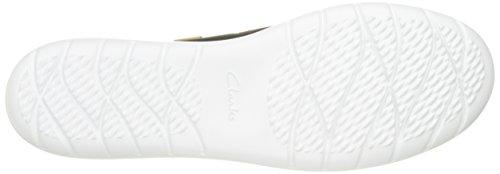CLARKS Damen Jocolin Vista Bootsschuh Schwarzes perforiertes Textil