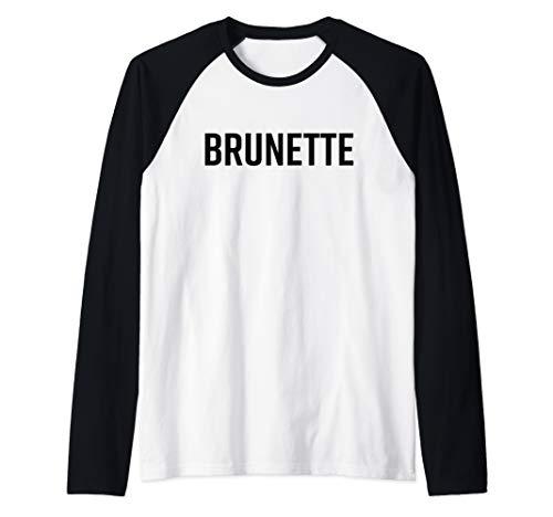 Brunette Shirt Dark Brown Black Hair Blonde Friends Saying Raglan Baseball Tee