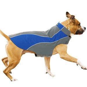 Kakadu Pet Explorer Nylon Fleece Reflective Dog Coat, 22″, Sea (Blue), My Pet Supplies