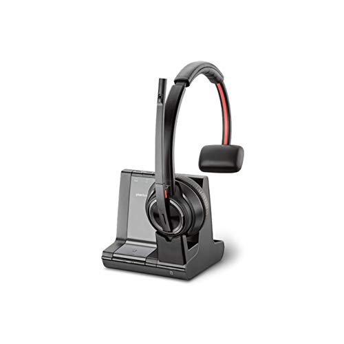 Plantronics SAVI 8200 Series W8210-M Wireless DECT Headset System, Certified for Skype for Business ()