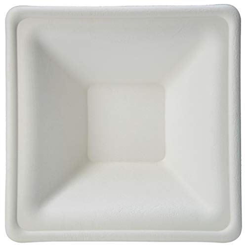 AmazonBasics Compostable Square Rimmed Bowl, 12 oz., 500-Count