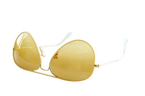 sol Metal Aviator para Amarillo Hombre Gafas Large de Ban Ray xSwP7Y7