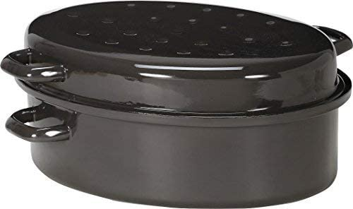 Krüger GR34 - Fuente de horno grande, 34 centímetros, color gris: Amazon.es: Hogar