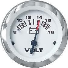 Sierra International 65506P Lido 12V System Voltmeter, 2""