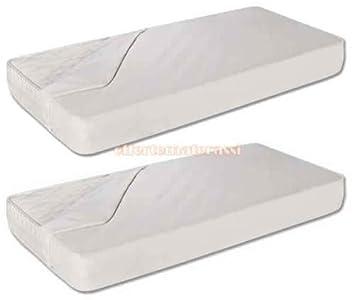 Par de cubrecolchones impermeables para cuna, tamaño 60 x 130 cm, colchón infantil: Amazon.es: Hogar