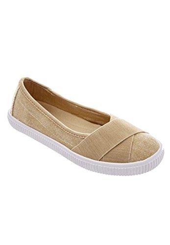 Comfortview Women's Wide Jazlyn Slip-Ons Khaki,11 W