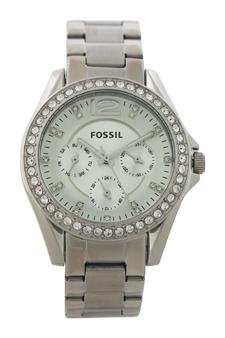 Fossil Es3202p Riley Multifunction Stainless Steel Watch Watch For Women