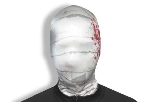 Morphsuits Morphmask Premium Mummy, Skin Color/Red, One Size -
