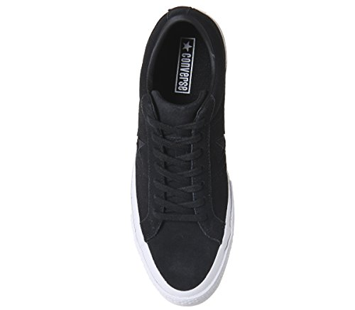Converse Unisex Adults' Lifestyle One Star Ox Leather Fitness Shoes Black White Black WEIOPXAcZ