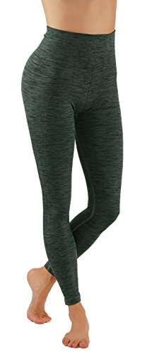 Pro Fit Yoga Pants Dry Fit Compression Workout Leggings (L/XL usa 6-10, PF605-Olive)