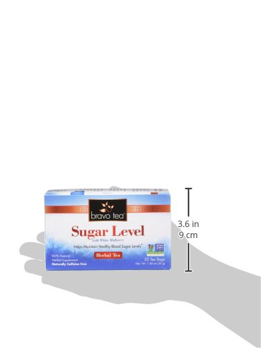 Bravo Teas Sugar Level with White Mulberry, 20 Tea Bags