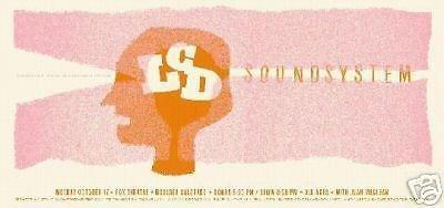 LCD Soundsystem James Murphy DJ Dance Rave Rare Fox Theatre Concert Tour Poster from ConcertPosterArt