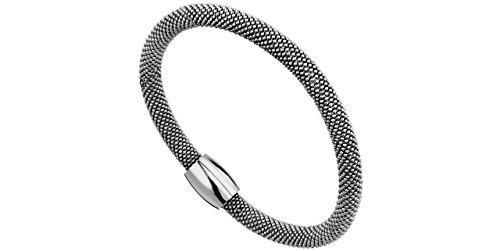 Clio Blue Bracelet magnétique Marylin argent 925 rhodié, fil 6 mm, 17.5g, Ø60mm