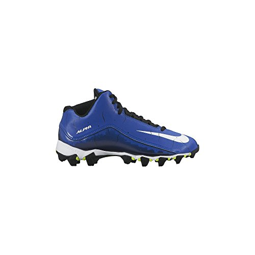 Boy's Nike Alpha Shark 2 3/4 Football Cleat Sport Royal/Black/White Size 5 M US