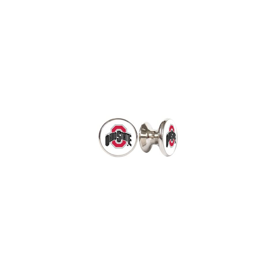 Ohio State Buckeyes NCAA Stainless Steel Cabinet Knobs / Drawer Pulls (2 pack)