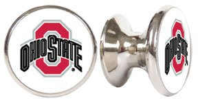 Ohio State Buckeyes NCAA Stainless Steel Cabinet Knob / Drawer Pull (Ohio State Bathroom)