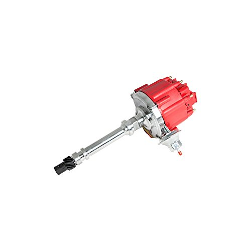 Top Street Performance JM6501R HEI Distributor with Red OEM Cap (65K Volt Coil)