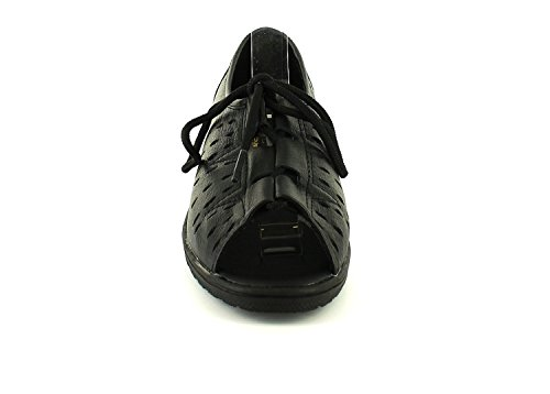 Black Sandals Femmes Dames De Keller Nouvelles 4 Lacets Marrion Des Royaume 8 uni Soft Noir Lace Sizes New Doux Sandales Tailles Uk Leather Cuir Up Ladies Dr womens Dr Keller 8 Marrion 4 a7zqZBP