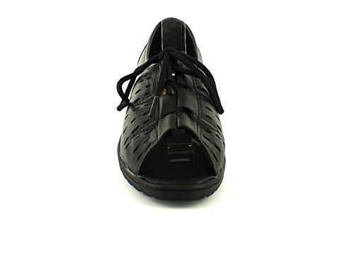 Marrion sandales souple TAILLES Keller à dames femmes ROYAUME Dr 4 UNI Noir 8 nouvelles lacets cuir en Iqzxv