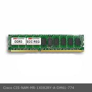 Cisco NAM-MR-1X082RY-A equivalent 8GB DDR3-1600 (PC3-12800) 1024x72 CL11 1.5v 240 Pin ECC Registered DIMM (x4 (Nam Pin)