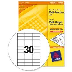 avery white copier labels 30 per sheet 70x30mm white ref 3489 3000