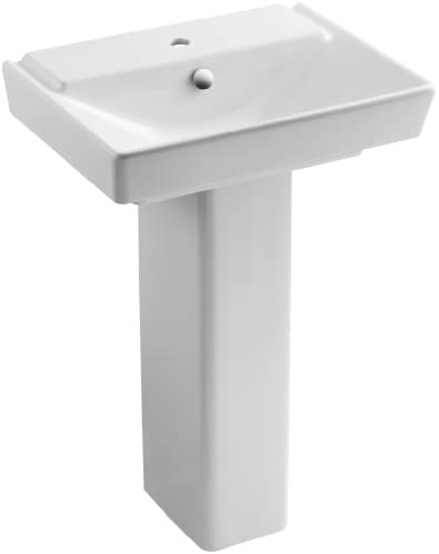 KOHLER K-5152-1-0 R ve 23 Bathroom Sink Basin and Pedestal, White