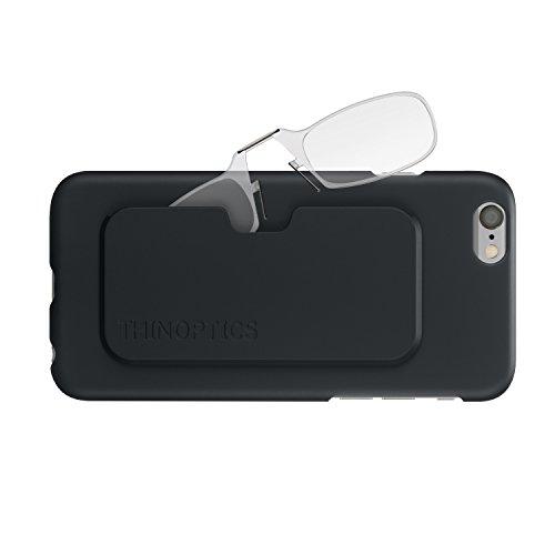 ThinOPTICS Reading Glasses + iPhone 6/6S Case   Clear Frames, 2.00 - Com Rx Lenses