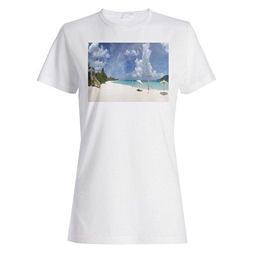 Das Leben ist schön Travel The World Beach Damen T-shirt b966f White
