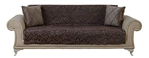 - Chiara Rose Acacia Sofa Slipcover 3 Cushion Sofa Cover 1 Piece Couch Furniture Protector Brown