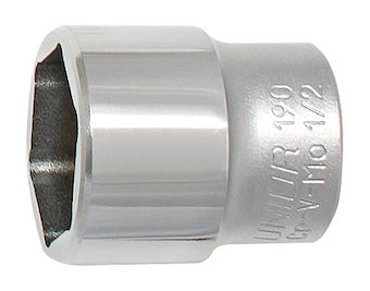 Unior Chamferless Suspension Top Cap Socket, 26mm, Chrome ()