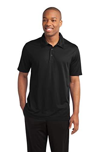 - Sport-Tek Mens PosiCharge Active Textured Polo, Black, XXX-Large
