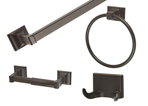 Design House 560854 Millbridge 4-Piece Bath Kit, Oil Rubbed Bronze Finish