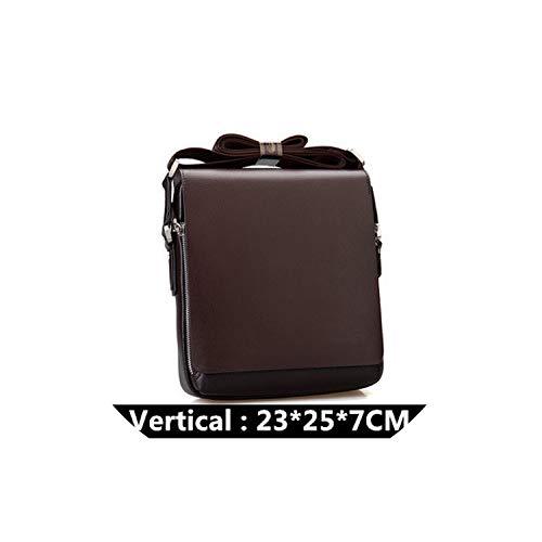 Luxury Men's Messenger Bag Vintage Leather Shoulder Bag Handsome Crossbody Bag Handbags,Brown 23X25X7Cm