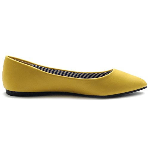 Scarpa Da Balletto Donna Ollio Comfort Basic Light Multi Color Flat Yellow