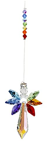 Woodstock Large Chakra Crystal Guardian Angel- Rainbow Maker Collection (Crystal Suncatcher Chakra)
