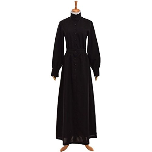 Servant Victorian Costumes (British Black MAID COSTUMES Victorian Edwardian Housekeeper Cosplay Servant Walking)