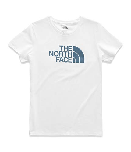 - The North Face Women's Short Sleeve Half Dome Tee, TNF White/Storm Blue, Size M