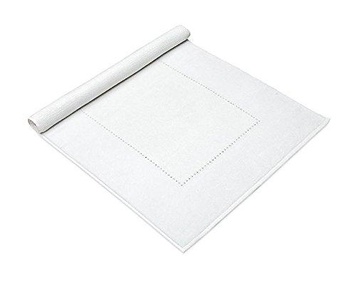 MV Swarovski Crystal Absorbent Cotton 1030 gsm Luxury Bath Mat Machine Washable (White)