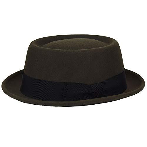 Bailey of Hollywood Men's Darron Telescopic Crown Pork Pie HAT, Serpent, L (Mens Pork Pie Hat)
