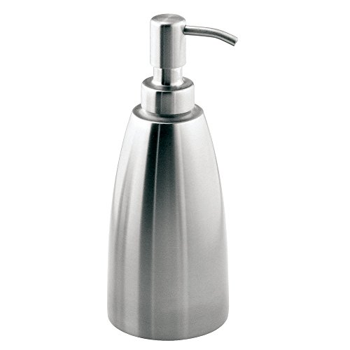 - InterDesign Forma Metal Stainless Steel Liquid Soap Pump and Lotion Dispenser for Kitchen, Bathroom, Sink, Vanity, 3.5