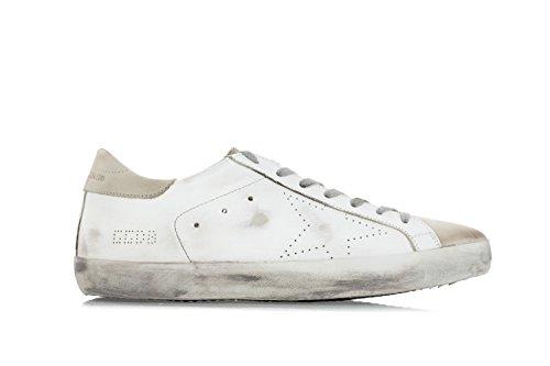 GOLDEN GOOSE DELUXE BRAND Scarpe Uomo Sneakers 'Superstar' in Pelle Traforata Bianco